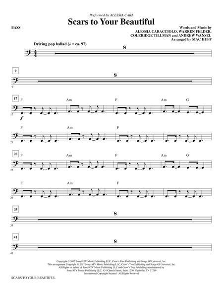 Scars to Your Beautiful (arr. Mac Huff) - Bass