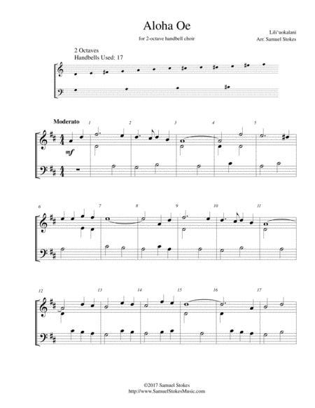 Aloha Oe - for 2-octave handbell choir
