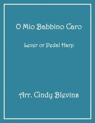 O Mio Babbino Caro, arranged for Lever or Pedal Harp, from my book