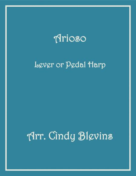 Arioso, arranged for Lever or Pedal Harp, from my book