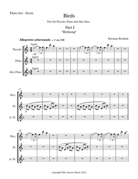 Birds - for Flute Trio