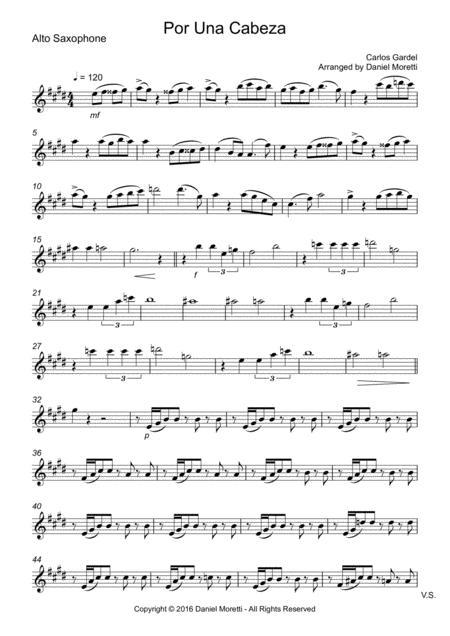 Por una cabeza - Saxophone Quartet