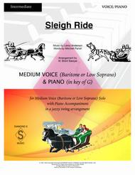 Sleigh Ride - MEDIUM VOCAL (Bari or Low Sop) with Piano