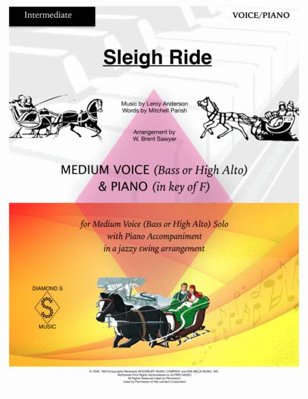 Sleigh Ride - MEDIUM LOW VOCAL (Bass or High Alto) with Piano