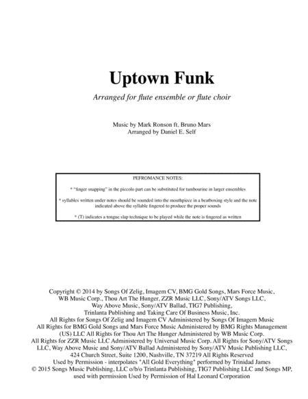 Uptown Funk (Flute Choir)