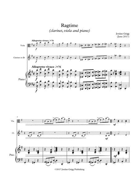 Ragtime (clarinet, viola and piano)