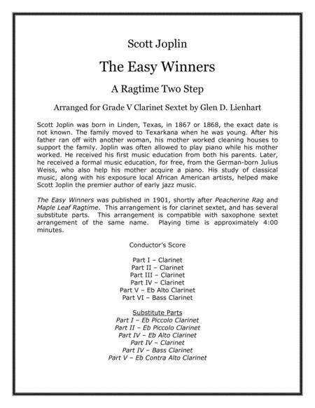 The Easy Winners (Clarinets)