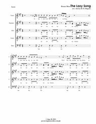 The Lazy Song by Bruno Mars - a Cappella SATB + Solo mixed choir