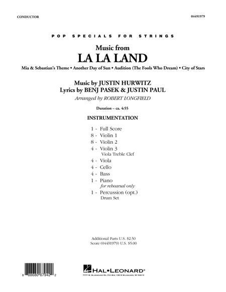 Music from La La Land - Conductor Score (Full Score)