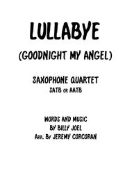 Lullabye (Goodnight, My Angel) for Saxophone Quartet (SATB or AATB)