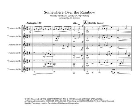 Somewhere Over The Rainbow for Trumpet Ensemble