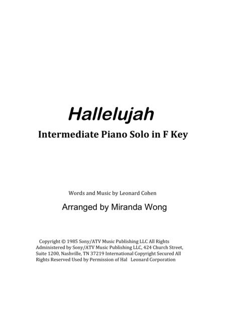 Download Hallelujah - Romantic Piano Solo In F Key (With Chords ...
