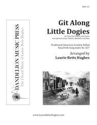 Git Along Little Dogies [Two-Part Treble]