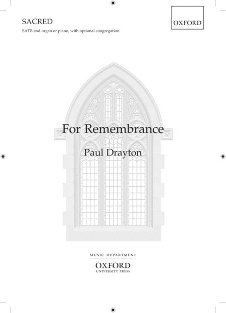 For Remembrance