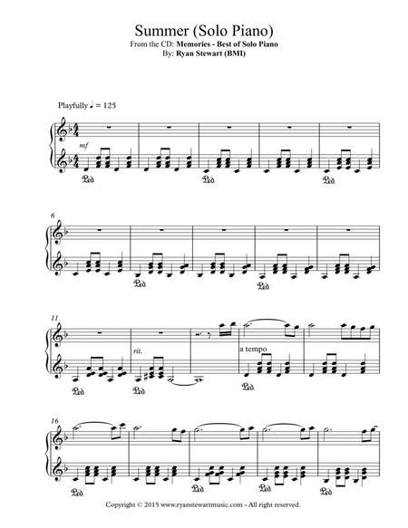 Summer (Solo Piano)