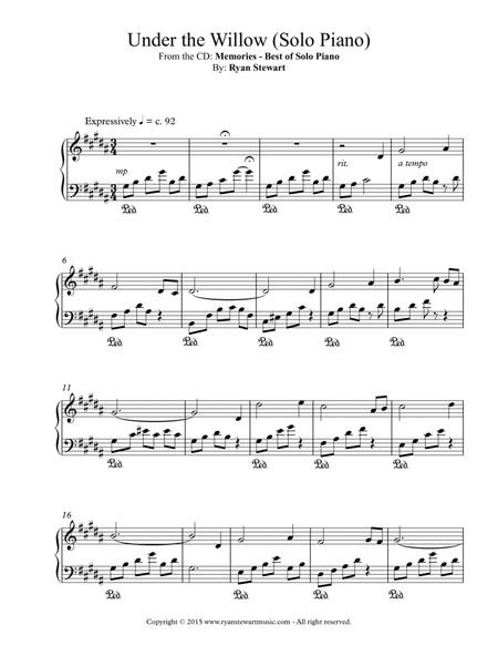 Under The Willow (Solo Piano)