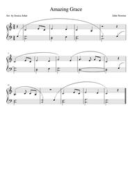 Amazing Grace-- easy piano