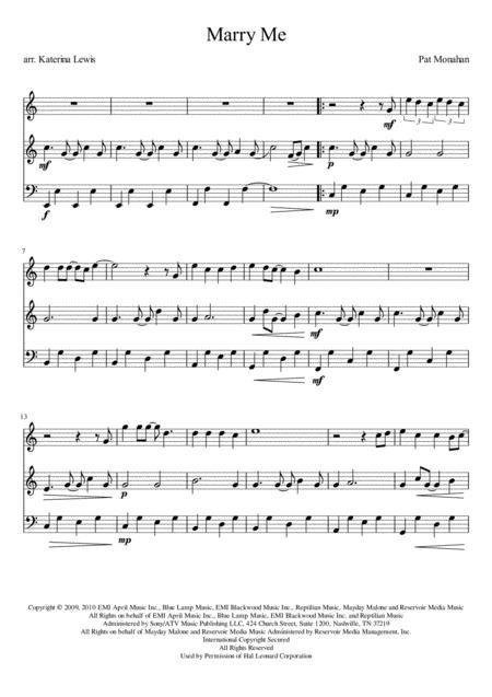 Marry Me (Violin 1, Violin 2, Cello)