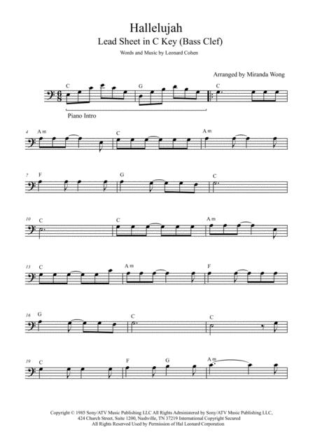 Download Hallelujah Cello Or Double Bass Solo With Chords Sheet