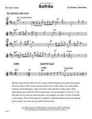 Sofrito - Solo Sheet - Alto Sax