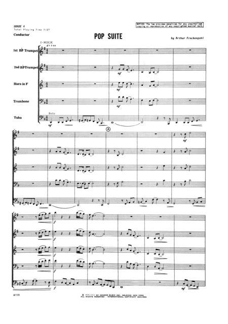 Pop Suite - Full Score