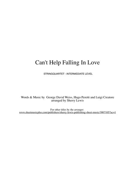 Download Can\'t Help Falling In Love String Quartet, String Trio ...