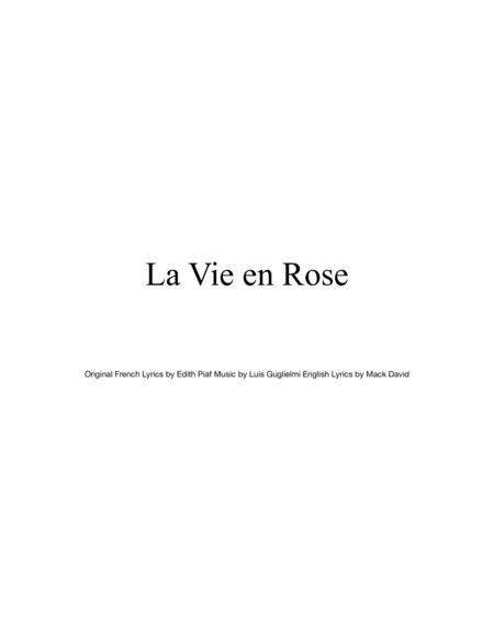 La Vie En Rose for STRING QUARTET, String Trio, String Duo, Solo Violin, String Quartet + string bass chord chart, arranged by Sherry Lewis