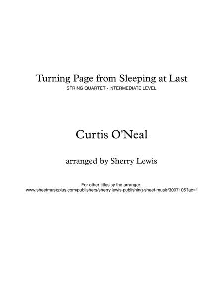 Turning Page for STRING QUARTET, String Trio, String Duo, Solo Violin, String Quartet, arranged by Sherry Lewis