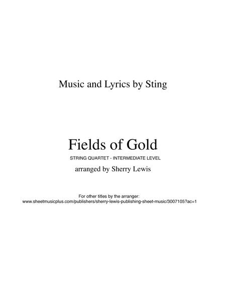 Fields Of Gold for STRING QUARTET, String Trio, String Duo, Solo Violin, String Quartet + string bass chord chart, arranged by Sherry Lewis