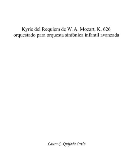 Kyrie from W. A. Mozart's Requiem, K.626. SCORE & PARTS.