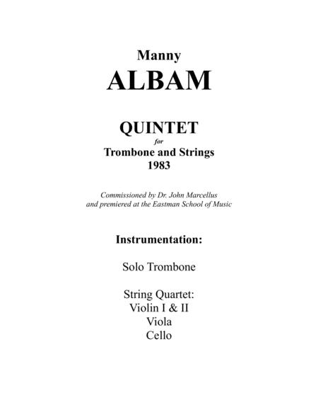 Quintet for Trombone and Strings