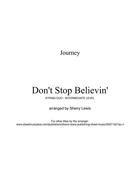 Don't Stop Believin', Journey for STRING DUO