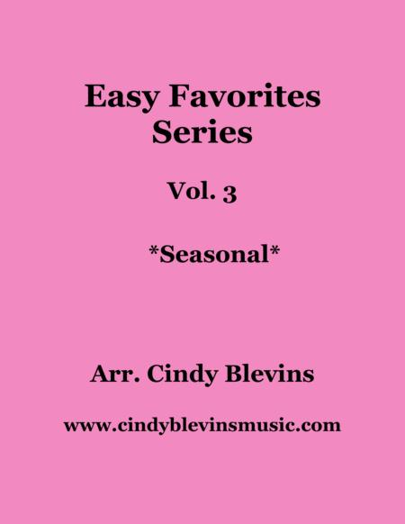 Easy Favorites, Seasonal, a book of 18 arrangements for all harps