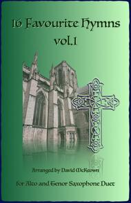 16 Favourite Hymns Vol.1 for Alto and Tenor Saxophone Duet