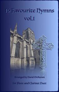 16 Favourite Hymns Vol.1 for Flute and Clarinet Duet