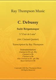 Debussy: Suite Bergamasque Mvt.3 Clair de Lune - clarinet quintet