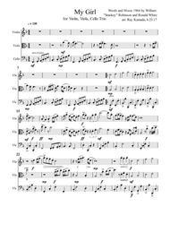 My Girl, for Violin, Viola, Cello Trio