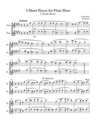 3 Short Pieces for Flute Duet