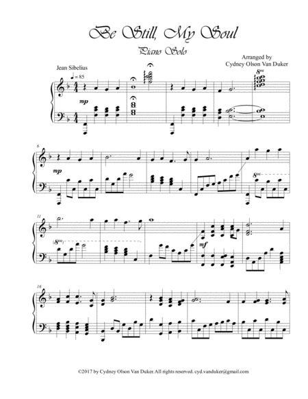 Be still, My Soul  piano solo