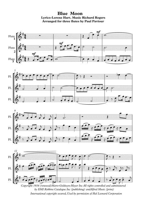 Blue Moon - flute trio