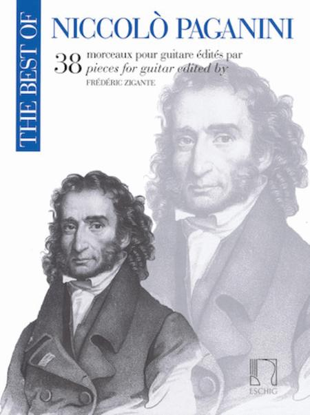 The Best of Niccolo Paganini: 38 Pieces for Guitar