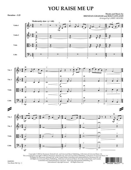 Download You Raise Me Up Full Score Sheet Music By Rolf