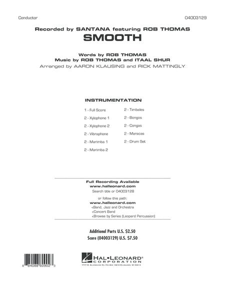 Smooth - Full Score