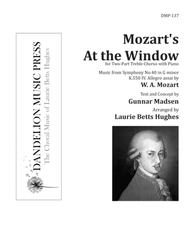 Mozart's At the Window [Two-Part Treble]
