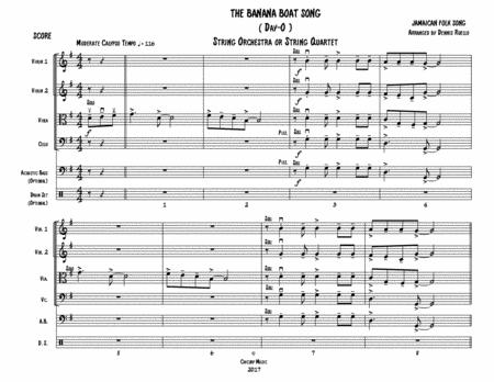 THE BANANA BOAT SONG - String Orchestra or Quartet - Intermediate