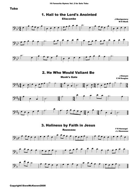 16 Favourite Hymns Vol.2 for solo Tuba