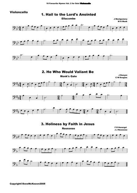 16 Favourite Hymns Vol.2 for solo Cello