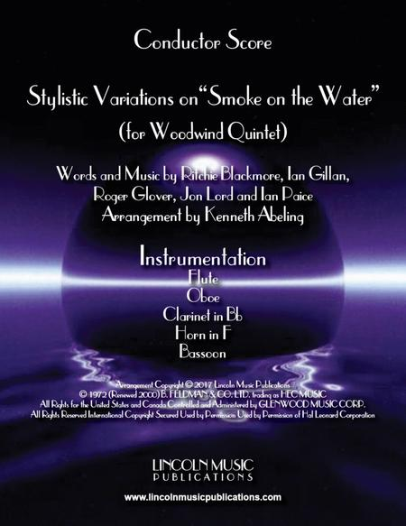 """Stylistic Variations on """"Smoke on the Water"""" (for Woodwind Quintet)"""