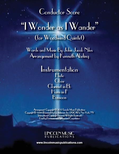 I Wonder as I Wander (for Woodwind Quintet)