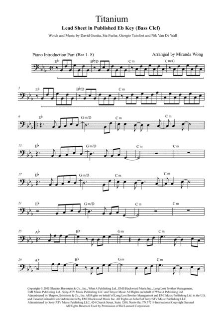 Download Titanium Cello Or Double Bass In Published Eb Key With